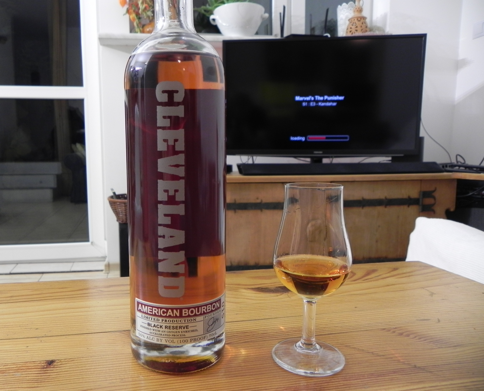 Cleveland Black Reserve Bourbon plus Marvel's Punisher