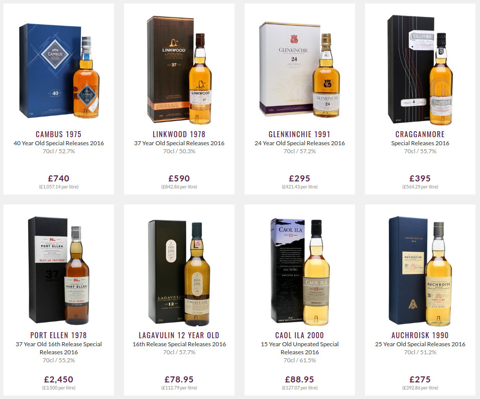 Diageo Special Releases 2016 ceny